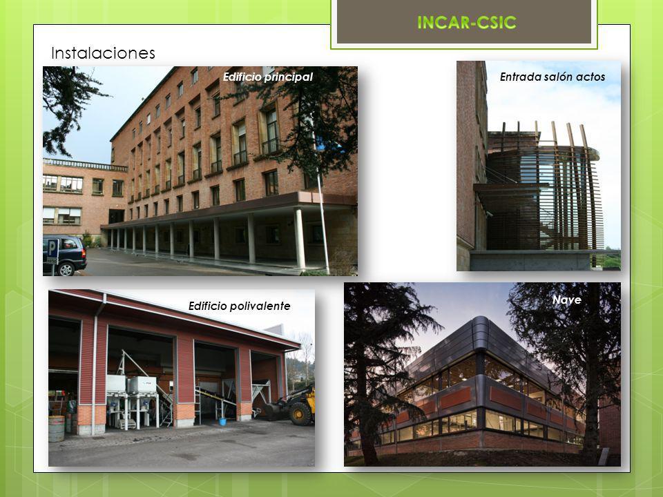 Instalaciones Edificio principal Edificio polivalente Entrada salón actos Nave