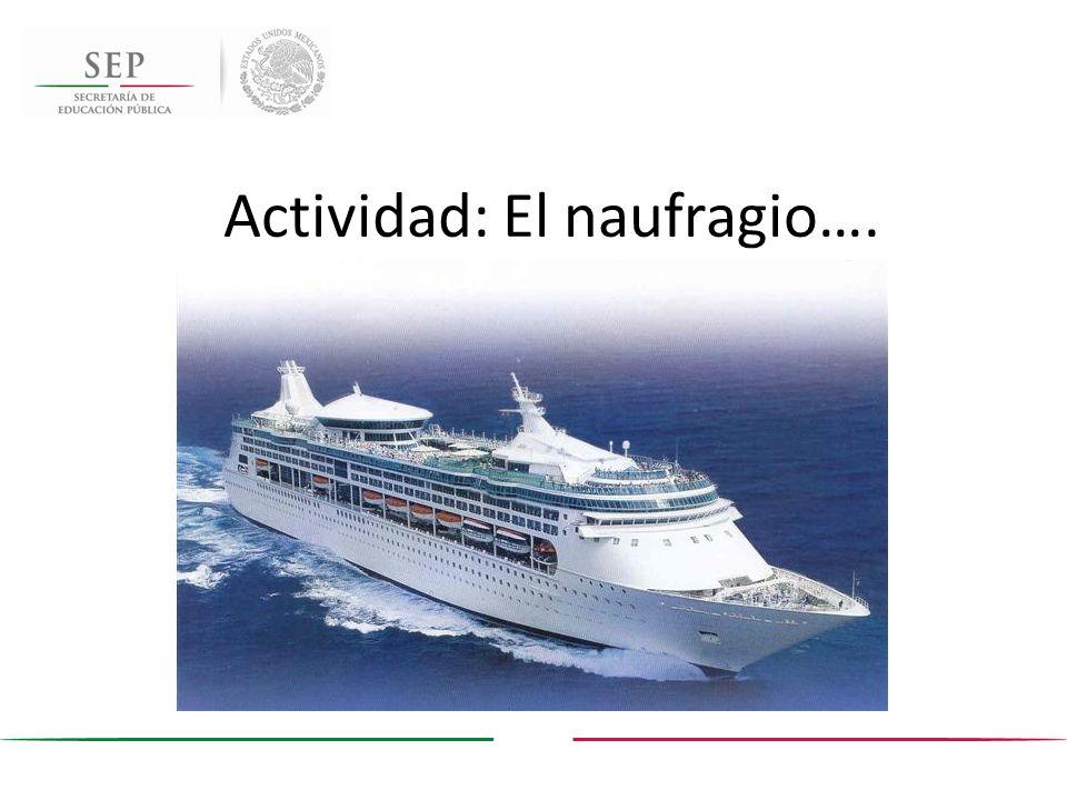 Actividad: El naufragio….