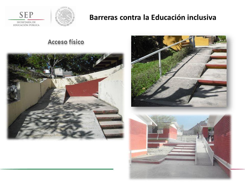 Acceso físico Barreras contra la Educación inclusiva