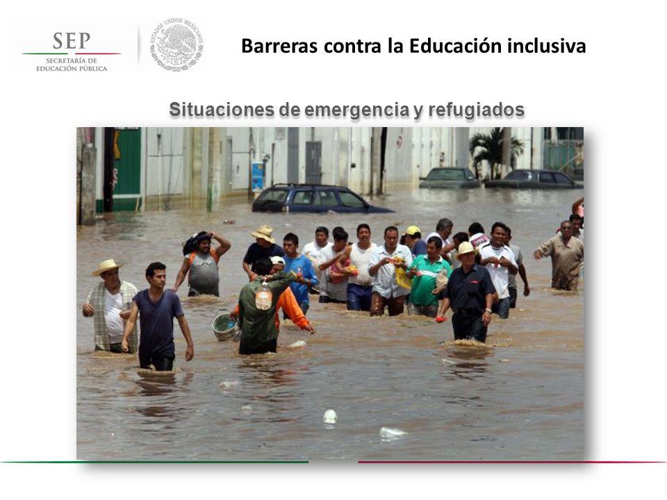 Situaciones de emergencia y refugiados Barreras contra la Educación inclusiva