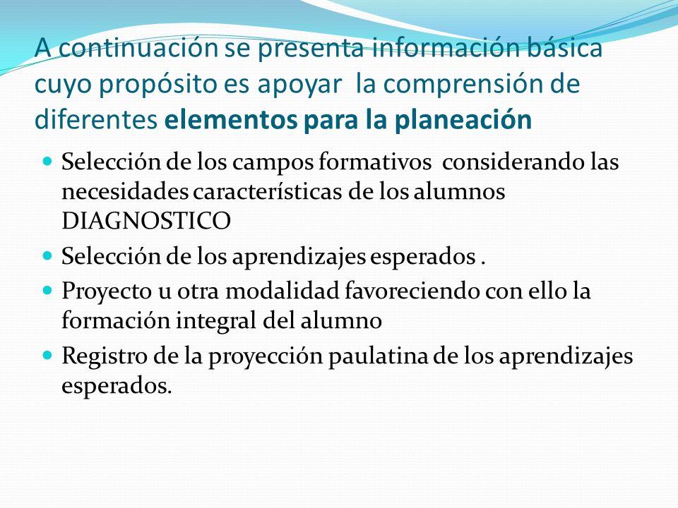 A continuación se presenta información básica cuyo propósito es apoyar la comprensión de diferentes elementos para la planeación Selección de los camp