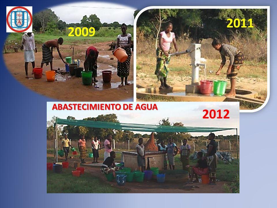 2009 2011 2012 ABASTECIMIENTO DE AGUA