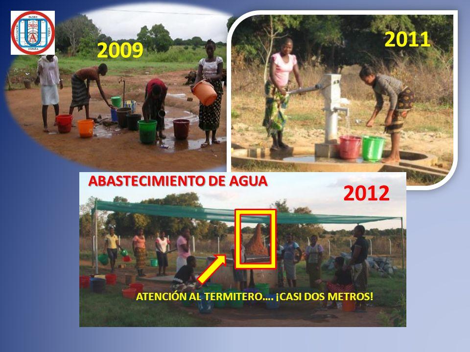 2009 2011 2012 ABASTECIMIENTO DE AGUA ATENCIÓN AL TERMITERO…. ¡CASI DOS METROS!