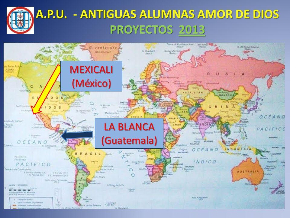 LA BLANCA (Guatemala) MEXICALI(México) A.P.U. - ANTIGUAS ALUMNAS AMOR DE DIOS PROYECTOS 2013