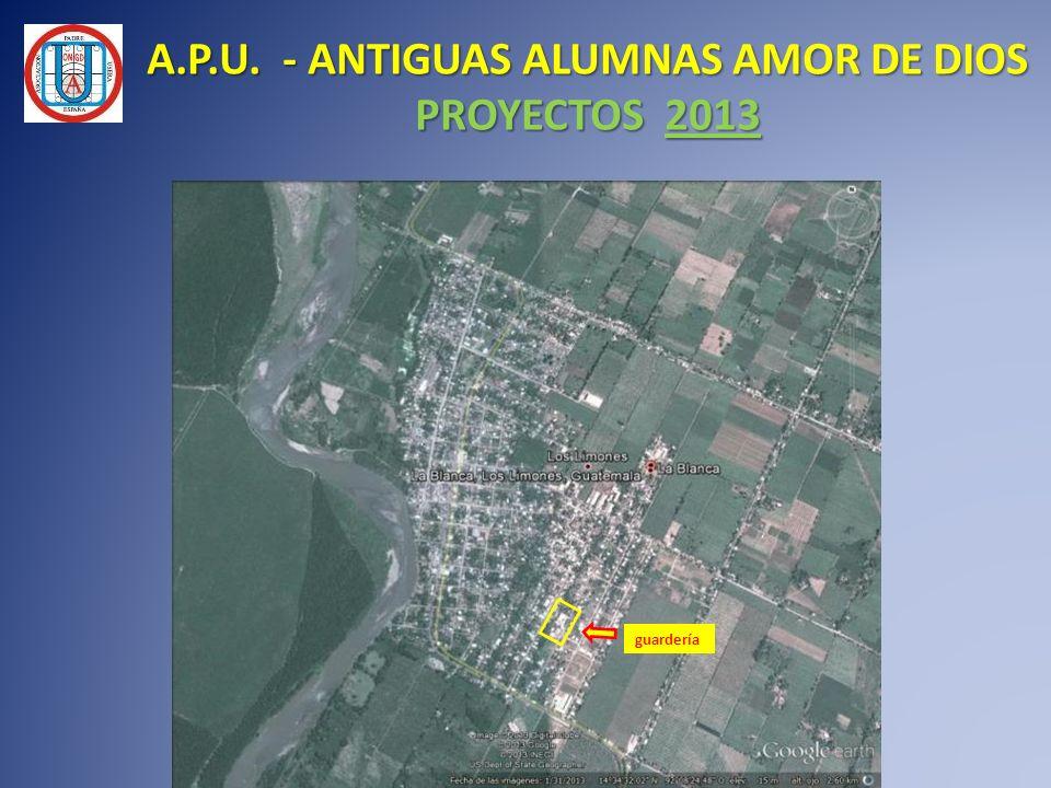 A.P.U. - ANTIGUAS ALUMNAS AMOR DE DIOS PROYECTOS 2013 guardería