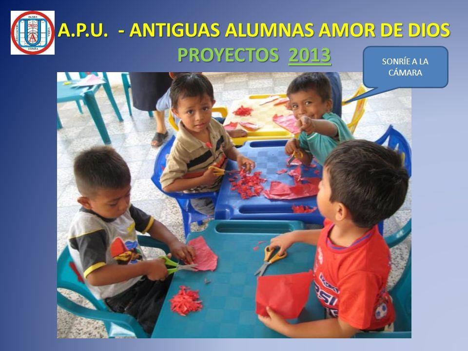 A.P.U. - ANTIGUAS ALUMNAS AMOR DE DIOS PROYECTOS 2013 SONRÍE A LA CÁMARA