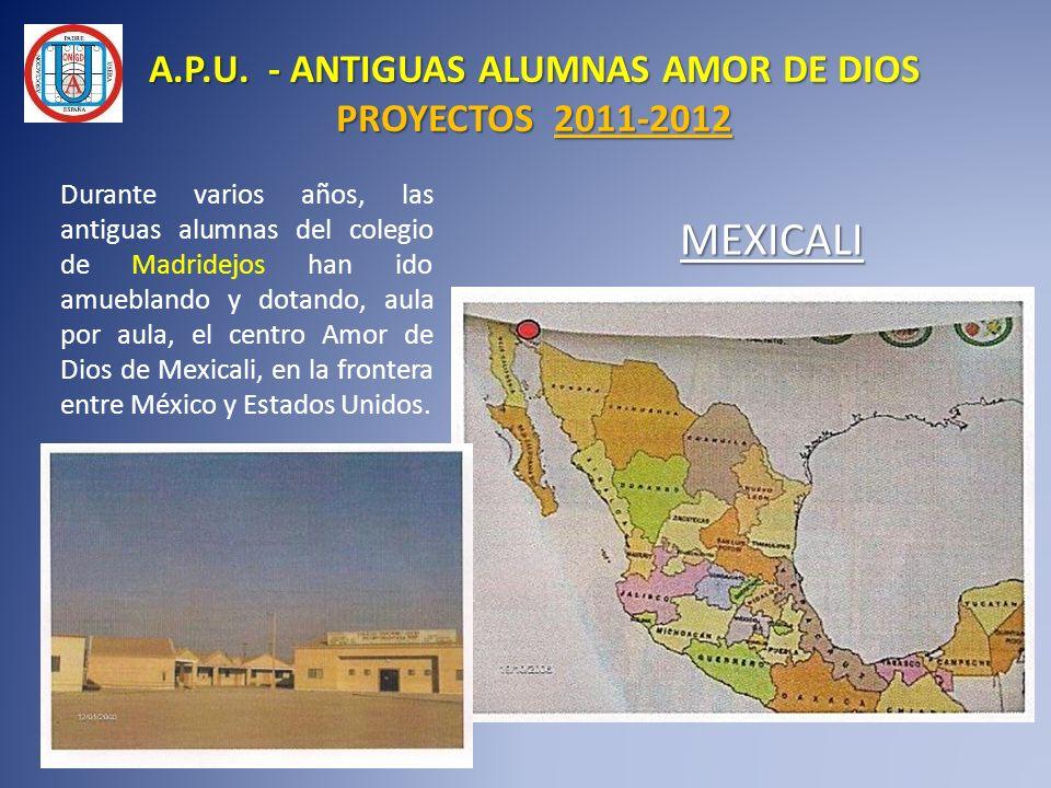 Durante varios años, las antiguas alumnas del colegio de Madridejos han ido amueblando y dotando, aula por aula, el centro Amor de Dios de Mexicali, e