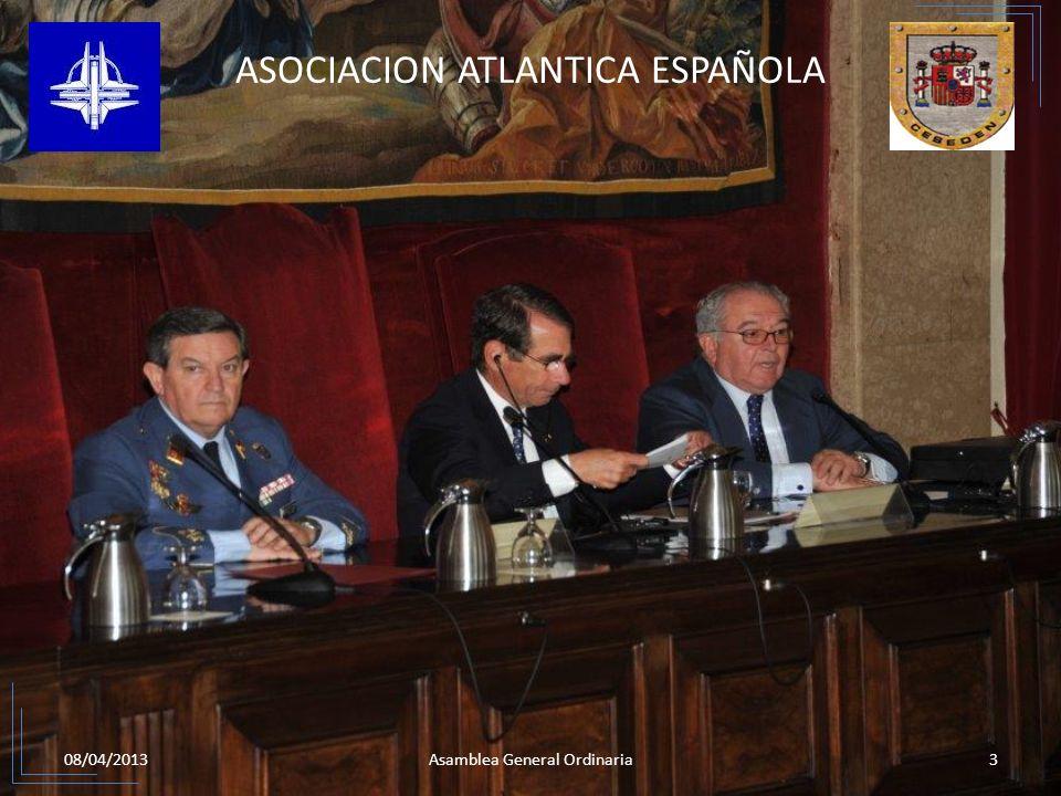 08/04/20133Asamblea General Ordinaria ASOCIACION ATLANTICA ESPAÑOLA 2.CONFERENCIA DEL EXCMO. SR. D. ALAN D. SOLOMONT EMBAJADOR DE LOS ESTADOS UNIDOS D