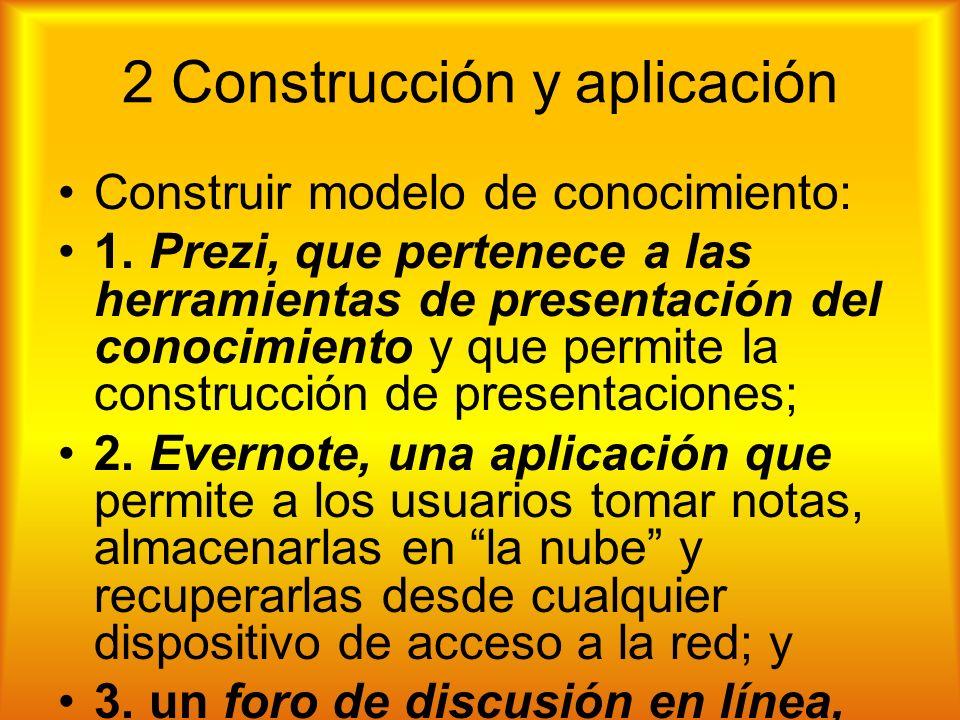 2 Construcción y aplicación Construir modelo de conocimiento: 1.