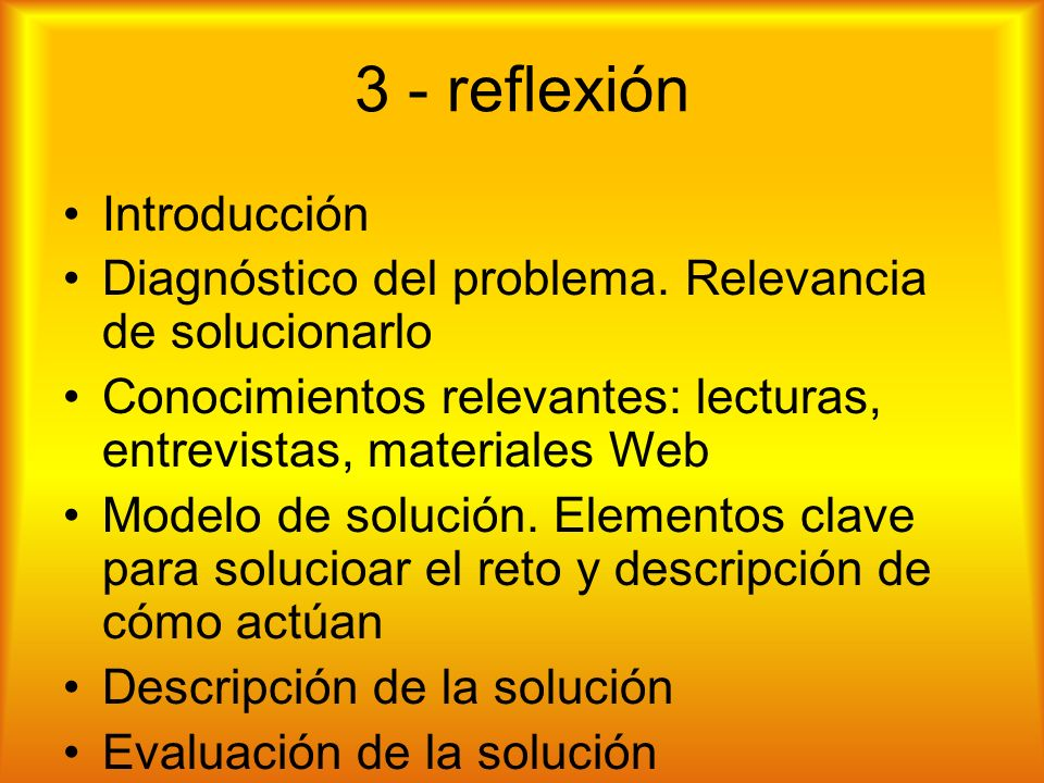 3 - reflexión Introducción Diagnóstico del problema.