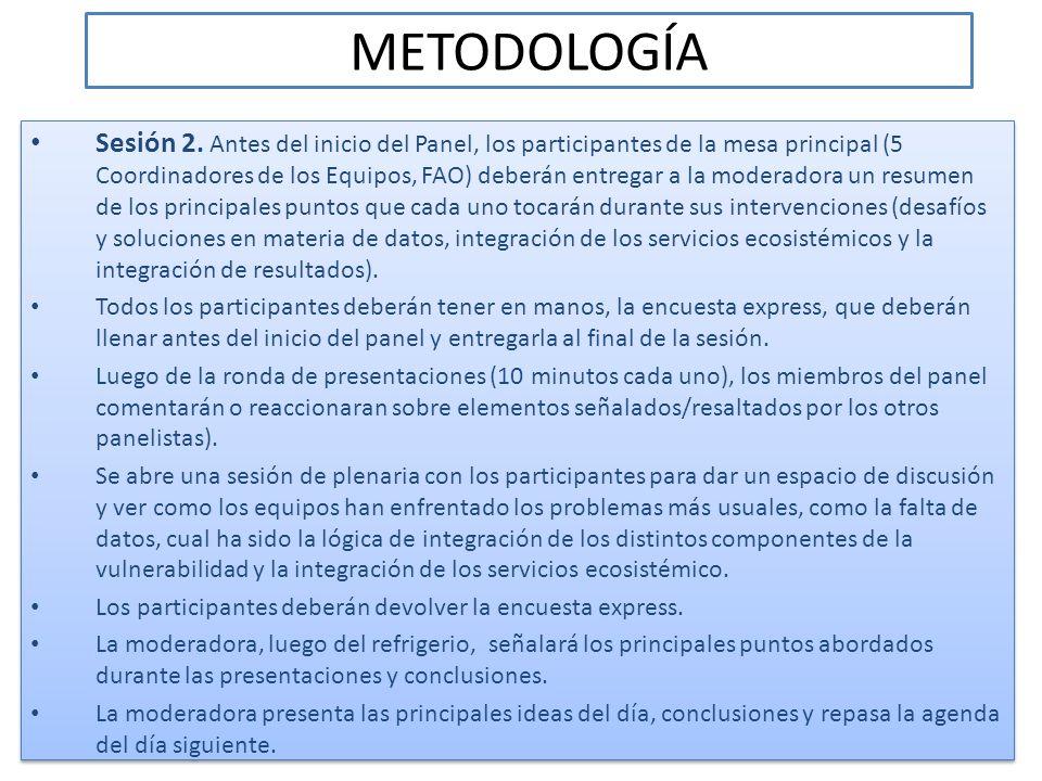 METODOLOGÍA Sesión 3.