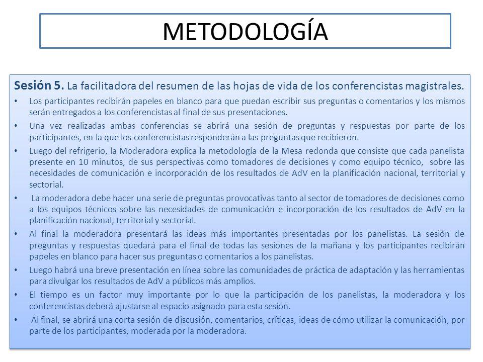 METODOLOGÍA Sesión 6.