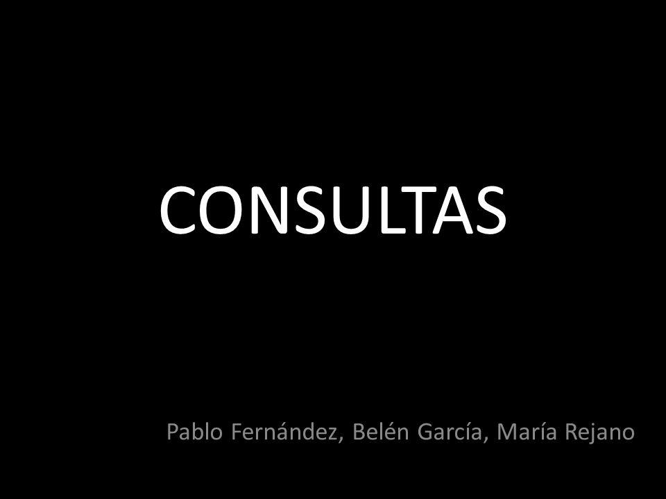 CONSULTAS Pablo Fernández, Belén García, María Rejano