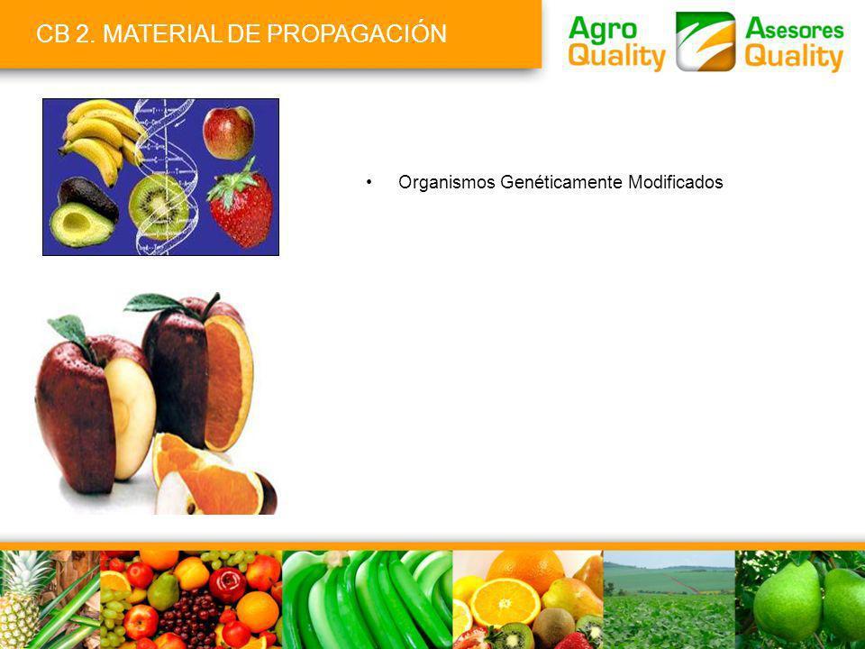 CB 2. MATERIAL DE PROPAGACIÓN Organismos Genéticamente Modificados