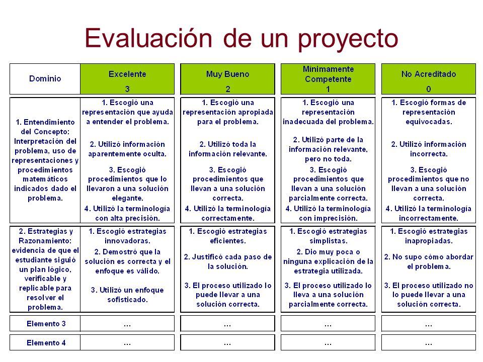 Evaluación de un proyecto