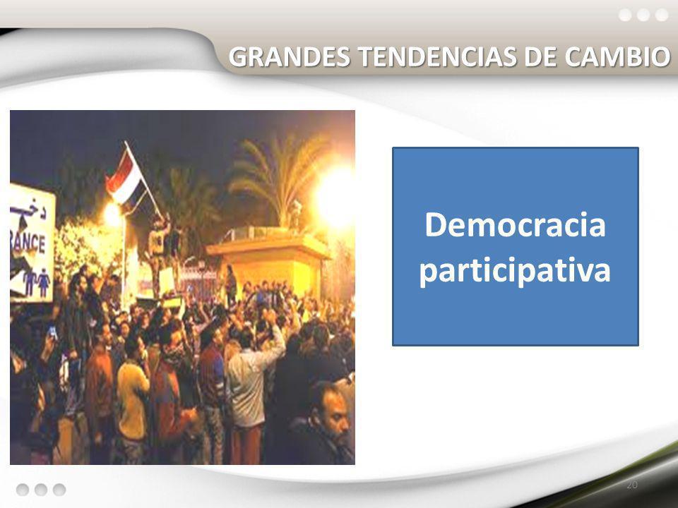 GRANDES TENDENCIAS DE CAMBIO 20 Democracia participativa