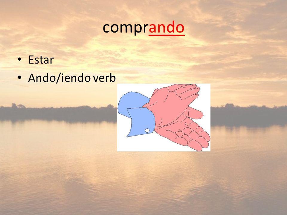 comprando Estar Ando/iendo verb