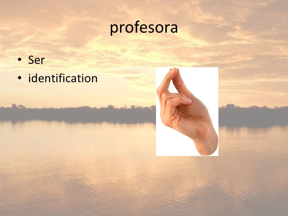profesora Ser identification
