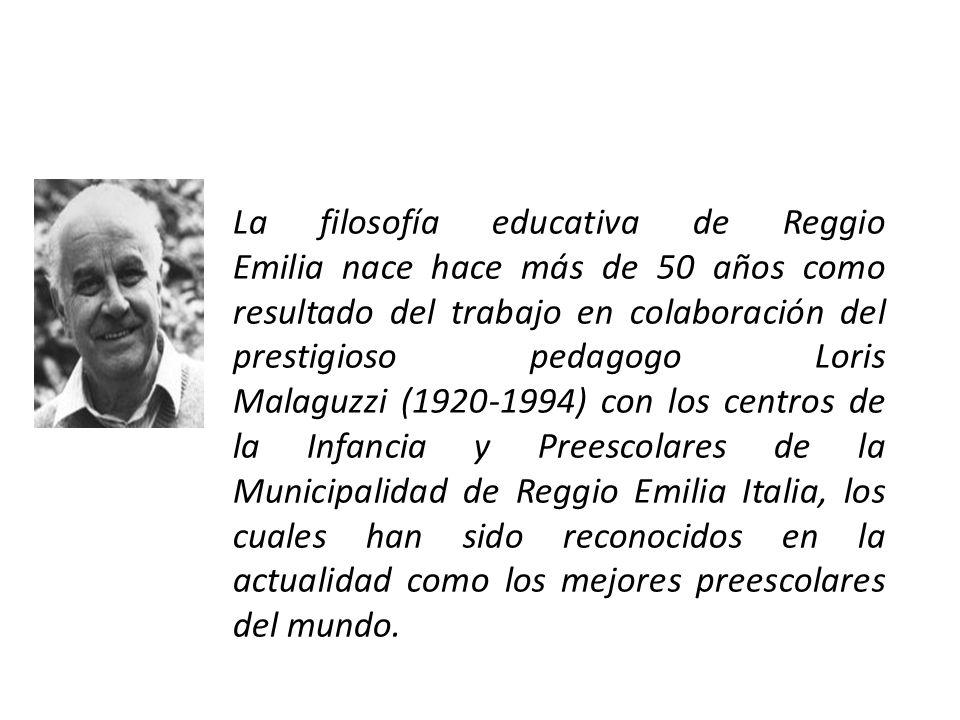 La filosofía educativa de Reggio Emilia nace hace más de 50 años como resultado del trabajo en colaboración del prestigioso pedagogo Loris Malaguzzi (
