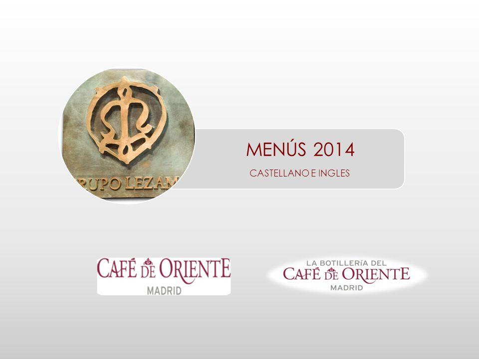 MENÚS 2014 CASTELLANO E INGLES