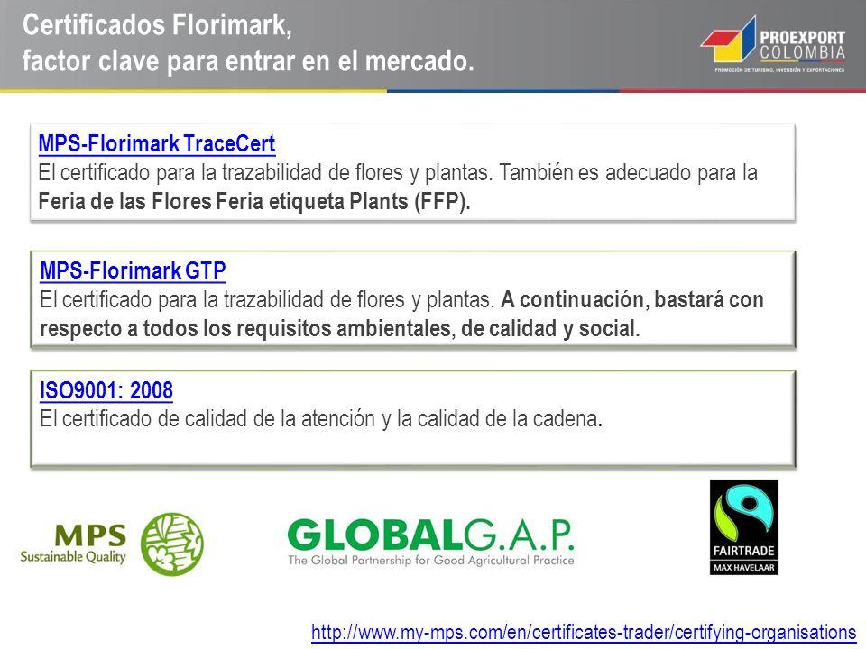 Certificados Florimark, factor clave para entrar en el mercado., MPS-Florimark TraceCert El certificado para la trazabilidad de flores y plantas. Tamb