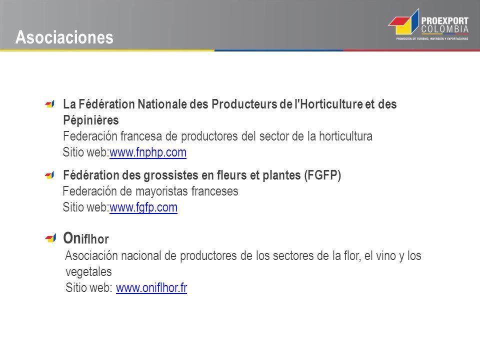 Asociaciones La Fédération Nationale des Producteurs de l'Horticulture et des Pépinières Federación francesa de productores del sector de la horticult