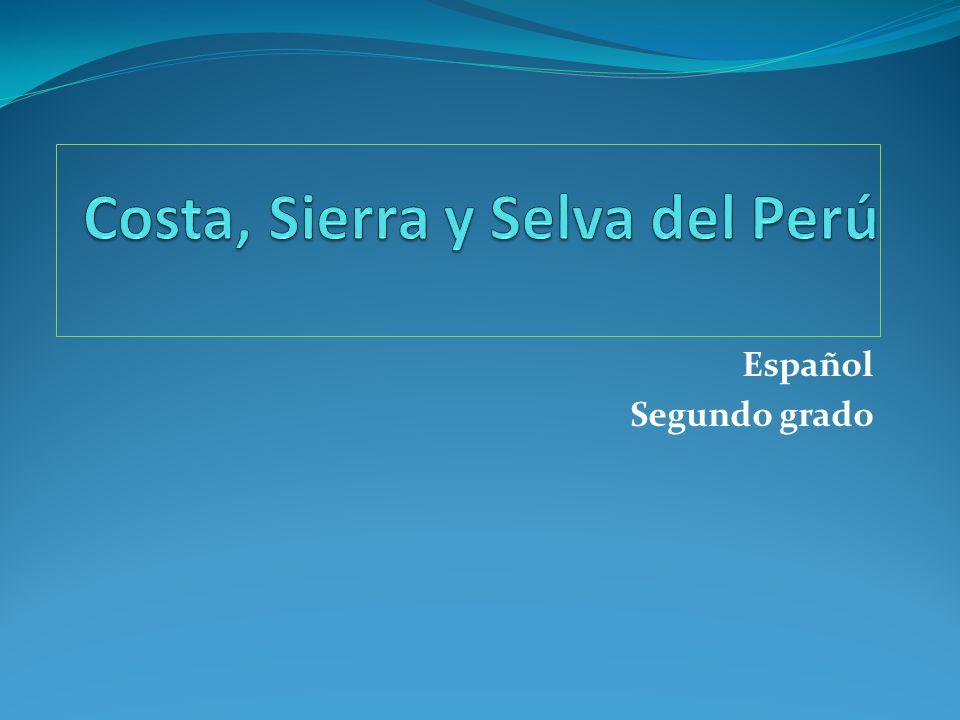 COSTA La Costa es la región situada al oeste del Perú, junto al Océano Pacífico.