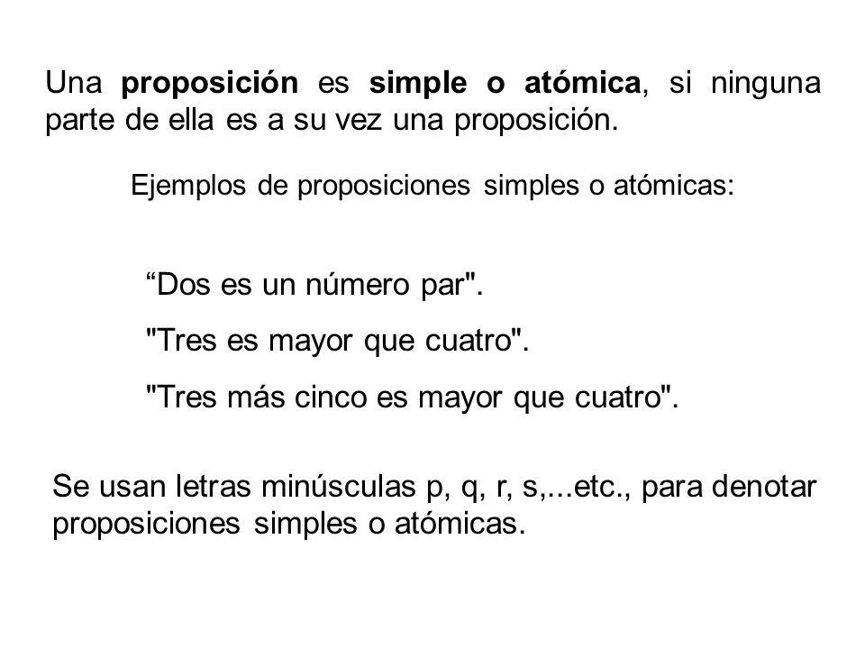 La propiedad fundamental de una proposición, es que ella puede ser verdadera o falsa, pero no ambas cosas a la vez.