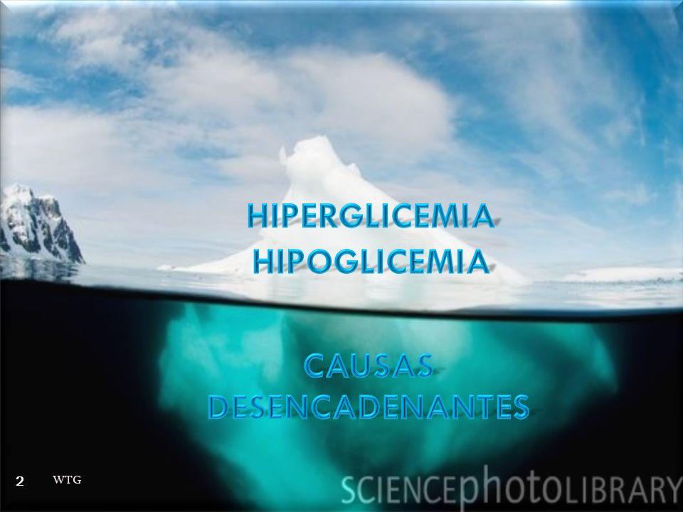 GLUCOSA > 100 400-500mg/dl GLUCOSA > 100 400-500mg/dl INVESTIGAR SINTOMAS O SIGNOS DE: INVESTIGAR SINTOMAS O SIGNOS DE: INFECCION INFECCION ENFERMEDAD CV ENFERMEDAD CV EQUIVALENTES ANGINOSOS EQUIVALENTES ANGINOSOS ORTOSTATISMO O HIPOVOLEMIA ORTOSTATISMO O HIPOVOLEMIA MANEJO AMBULATORIO O HASTA GLICEMIA DE 200-300 MANEJO AMBULATORIO O HASTA GLICEMIA DE 200-300 WTG 13 Adaptado de Prim Care Clin Office Pract 33 (2006) 711–725 Adaptado de Prim Care Clin Office Pract 33 (2006) 711–725
