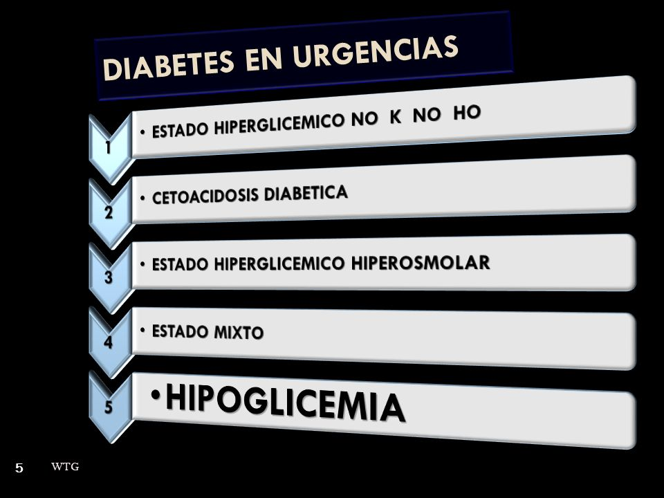 5 DIABETES EN URGENCIAS