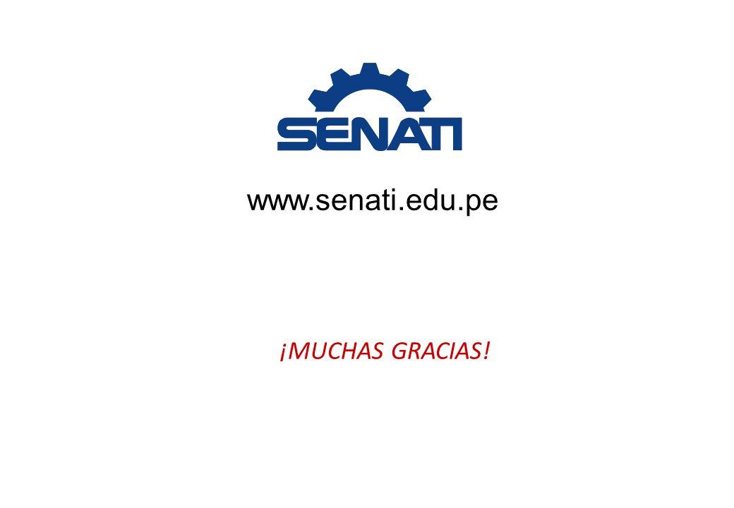 ¡MUCHAS GRACIAS! www.senati.edu.pe