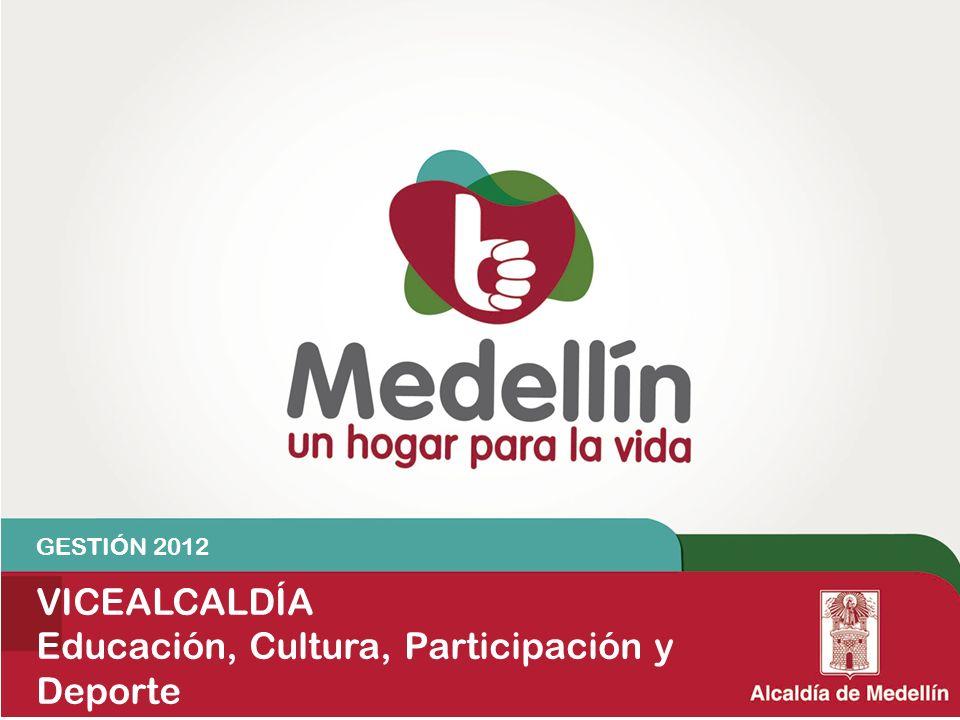 GESTIÓN 2012 VICEALCALDÍA Educación, Cultura, Participación y Deporte