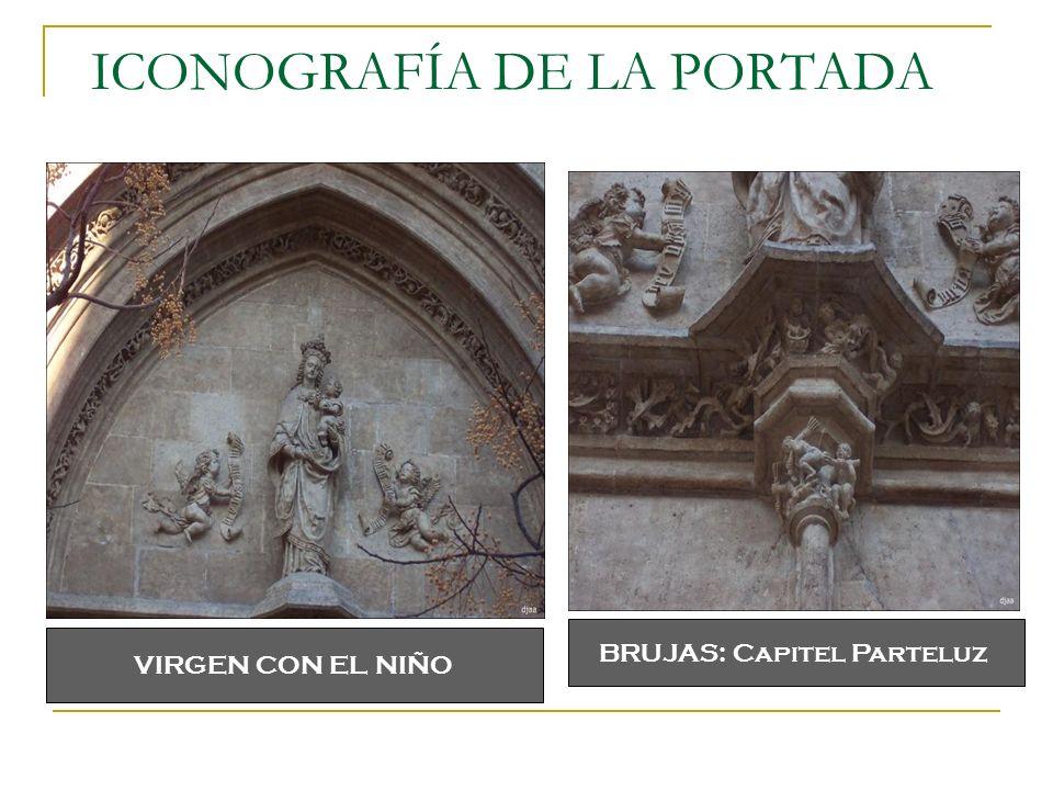 ICONOGRAFÍA DE LA PORTADA BRUJAS: Capitel Parteluz VIRGEN CON EL NIÑO