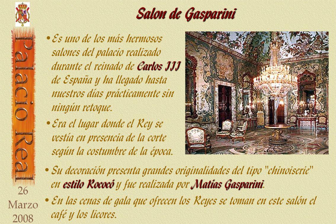Salon de Gasparini estilo RococóMatías Gasparini Su decoración presenta grandes originalidades del tipo chinoiserie en estilo Rococó y fue realizada por Matías Gasparini.