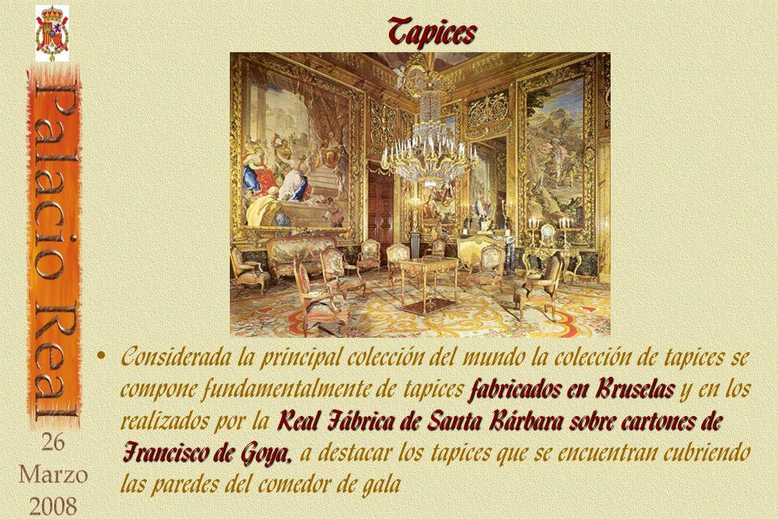 Tapices fabricados en Bruselas Real Fábrica de Santa Bárbara sobre cartones de Francisco de Goya, Considerada la principal colección del mundo la cole