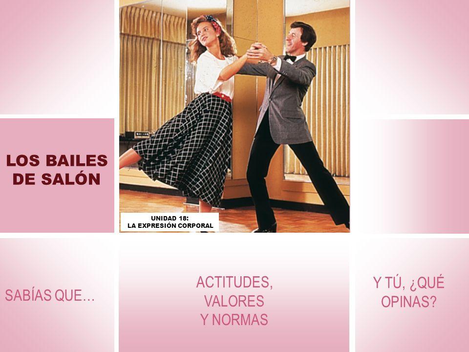 LOS BAILES DE SALÓN Los bailes de salón son una actividad física que mejora la coordinación, la capacidad rítmica y las cualidades físicas básicas.