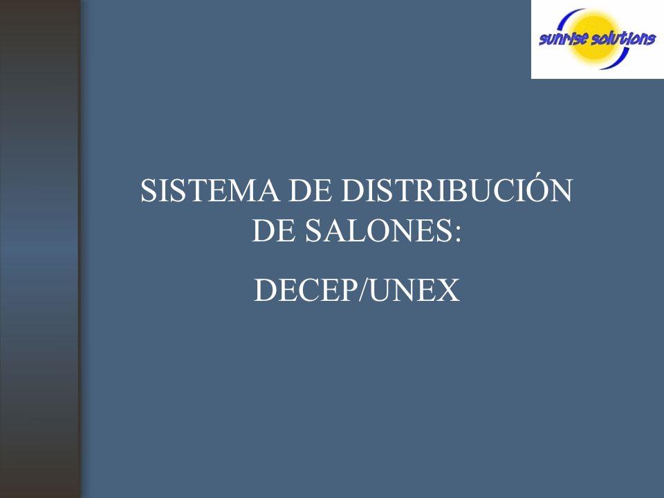 SISTEMA DE DISTRIBUCIÓN DE SALONES: DECEP/UNEX
