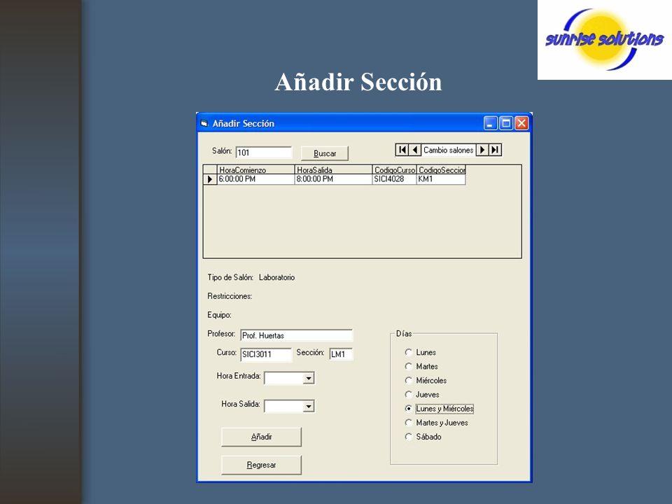 Añadir Sección