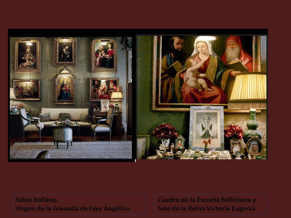 Salón Italiano. Oronoz Virgen de la Granada. Fray Angélico La última Cena. Tiziano