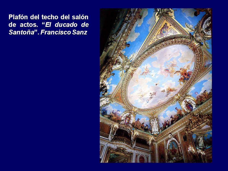 Bóveda de coronación del hueco de la escalera prin- cipal. Las provincias de ultramar. Francisco Sanz