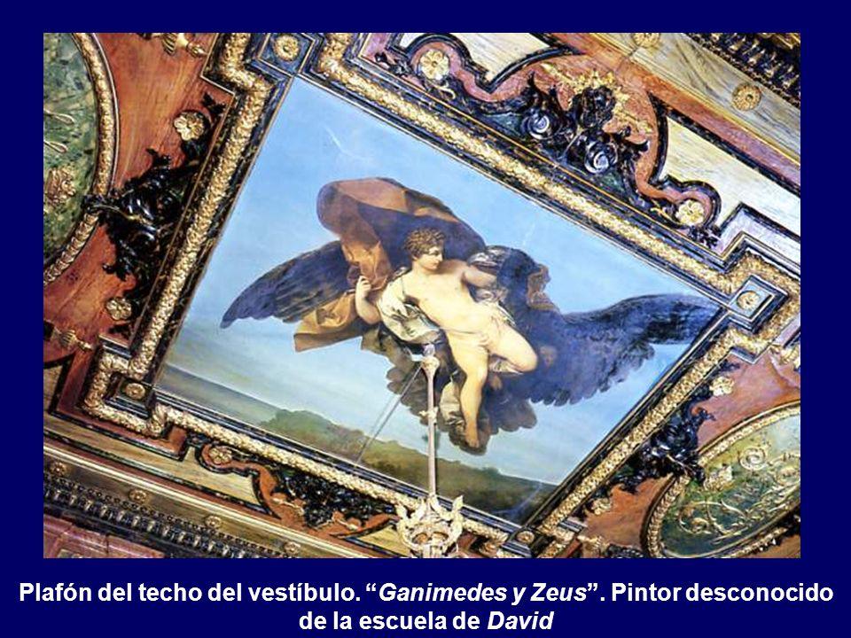 Plafón del techo del salón de la rotonda. Hermes y Afrodita. Plácido Francés