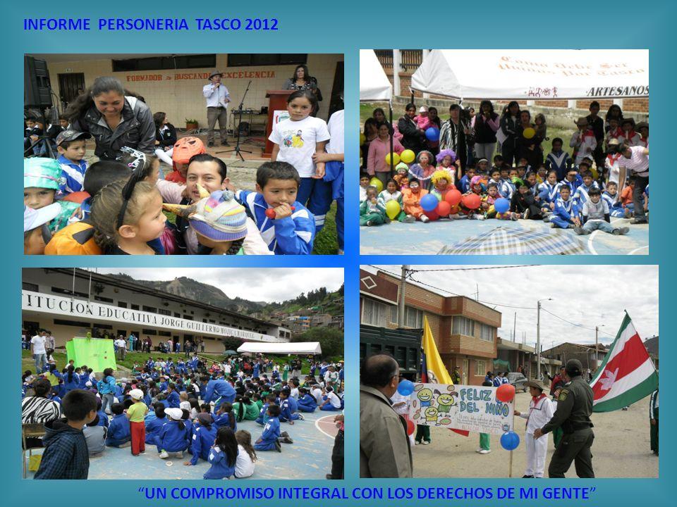 INFORME PERSONERIA TASCO 2012 UN COMPROMISO INTEGRAL CON LOS DERECHOS DE MI GENTE