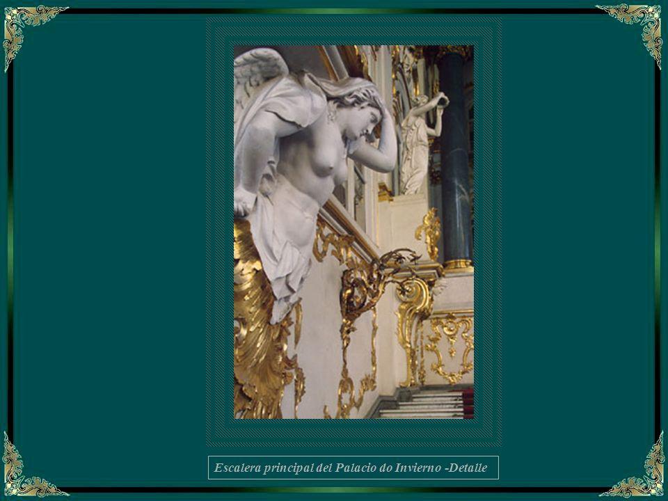 Escalera principal del Palacio de Invierno – fragmento del interior