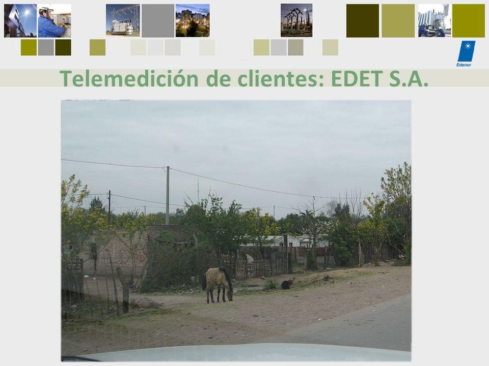 Telemedición de clientes: EDET S.A.