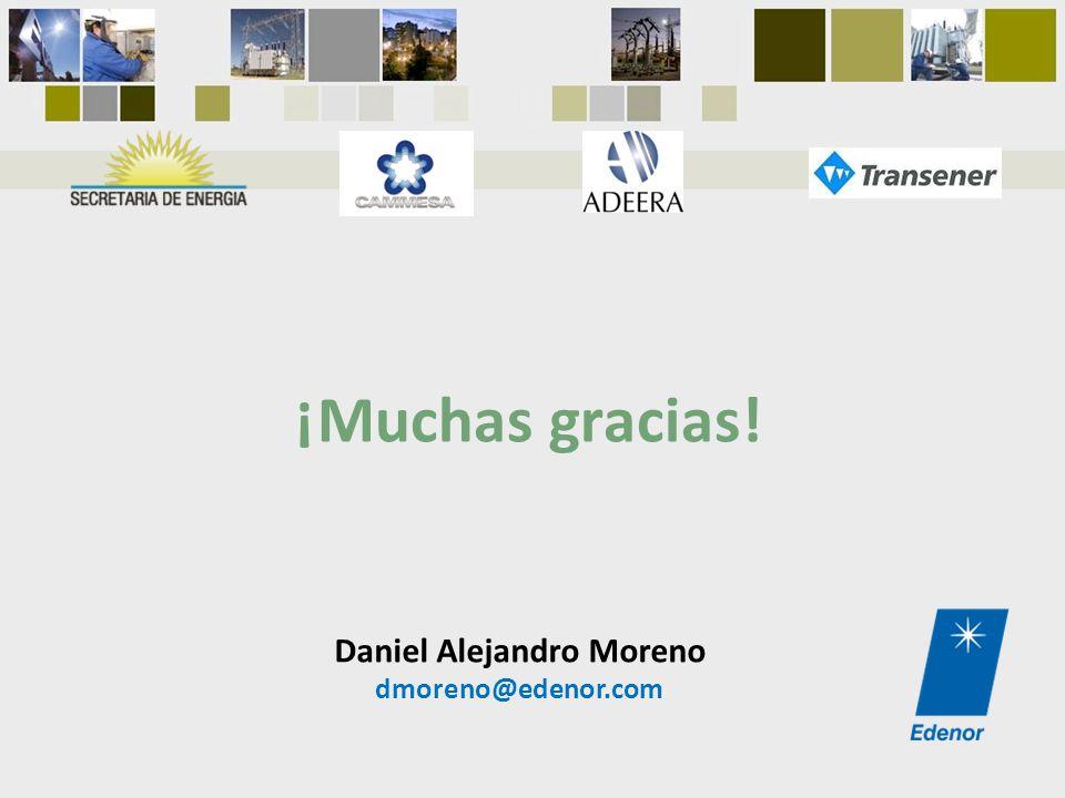 ¡Muchas gracias! Daniel Alejandro Moreno dmoreno@edenor.com