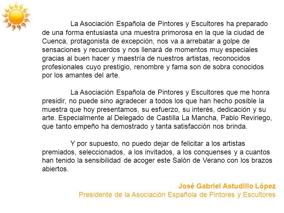 La Asociación Española de Pintores y Escultores ha preparado de una forma entusiasta una muestra primorosa en la que la ciudad de Cuenca, protagonista