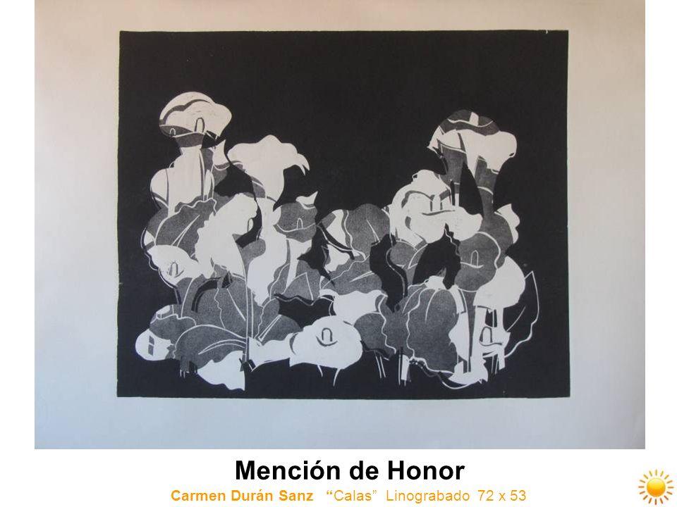 Mención de Honor Carmen Durán Sanz Calas Linograbado 72 x 53
