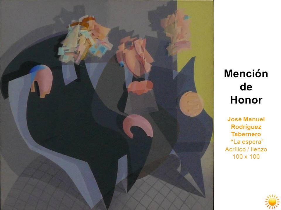 Mención de Honor José Manuel Rodríguez Tabernero La espera Acrílico / lienzo 100 x 100