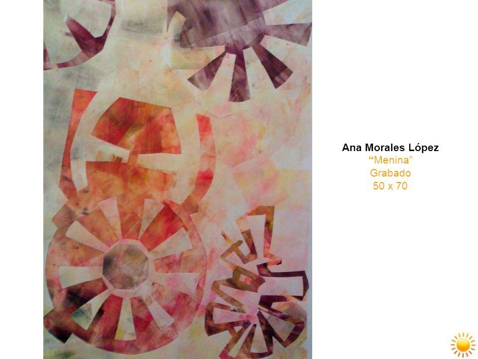 Ana Morales López Menina Grabado 50 x 70
