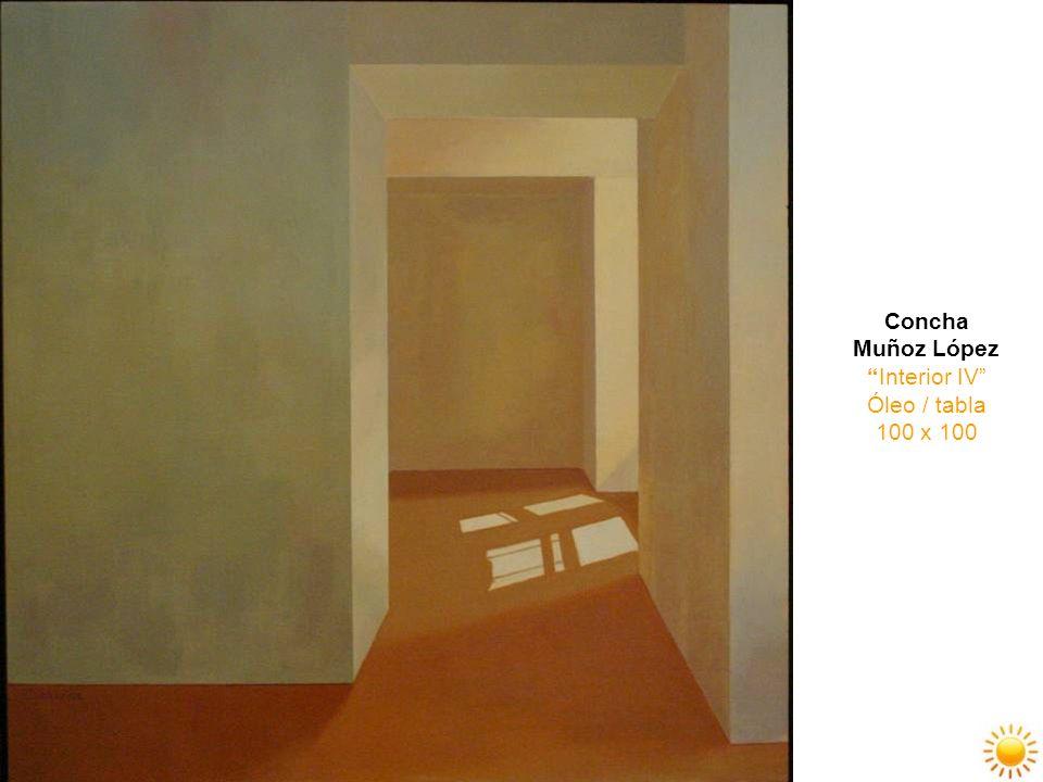 Concha Muñoz López Interior IV Óleo / tabla 100 x 100